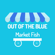 Out of the Blue Market Fish Logo