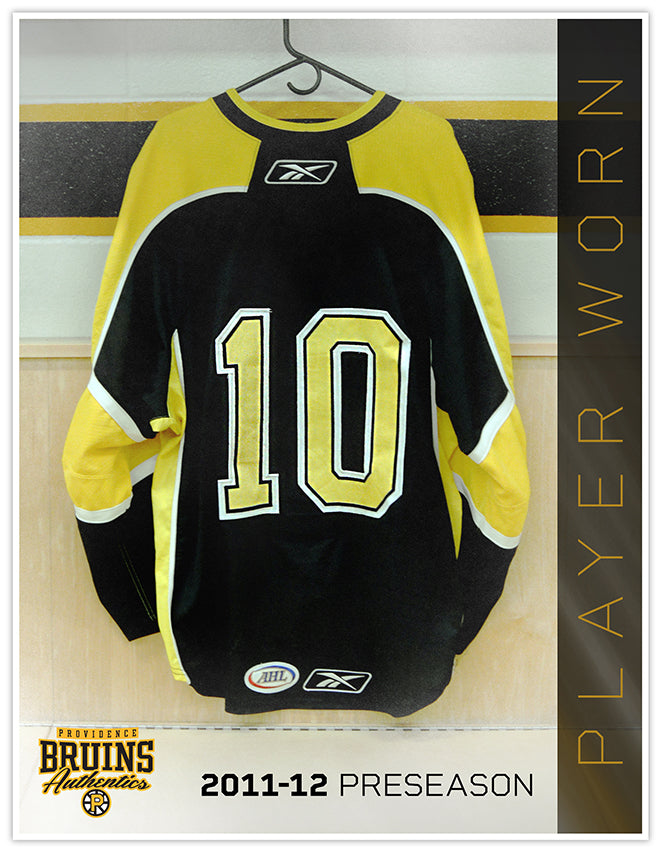 #10 2011-12 Preseason Game Worn Black Jersey
