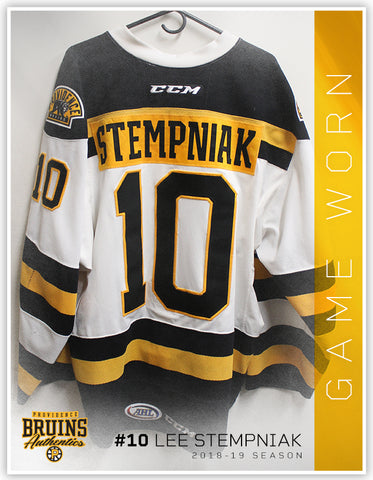#10 Lee Stempniak 2018-19 Game Worn White Jersey