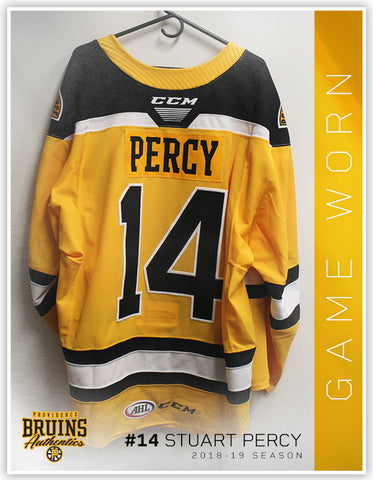 #14 Stuart Percy 2018-19 Game Worn Gold Jersey
