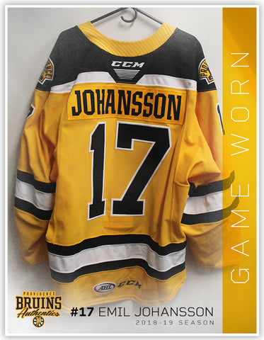 #17 Emil Johansson 2018-19 Game Worn Gold Jersey
