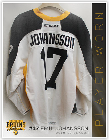 #17 Emil Johansson 2018-19 Warmup Worn Jersey To Benefit Hasbro Children's Hospital