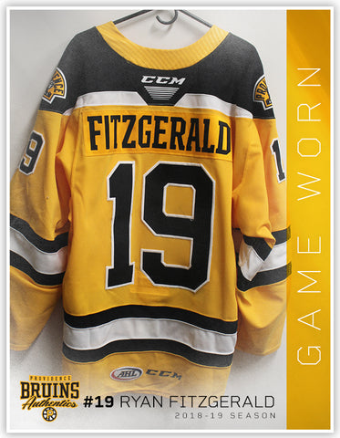 #19 Ryan Fitzgerald 2018-19 Game Worn Gold Jersey