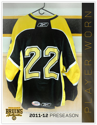 #22 2011-12 Preseason Game Worn Black Jersey