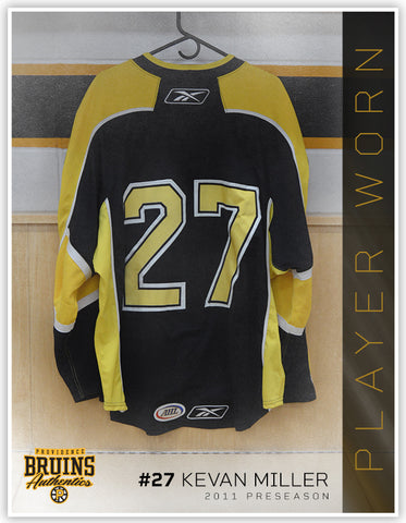 #27 Kevan Miller 2011-12 Preseason Game Issued Black Jersey
