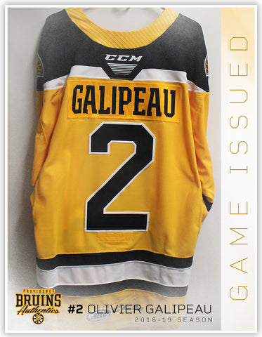 #2 Olivier Galipeau 2018-19 Game Issued Gold Jersey