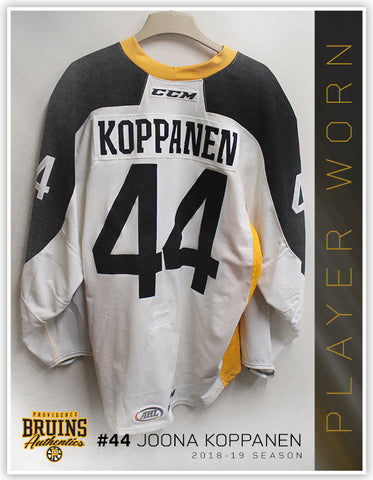 #44 Joona Koppanen 2018-19 Warmup Worn Jersey To Benefit Hasbro Children's Hospital