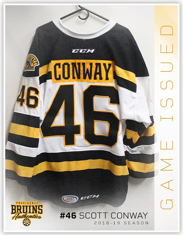 #46 Scott Conway 2018-19 Game Issued White Jersey