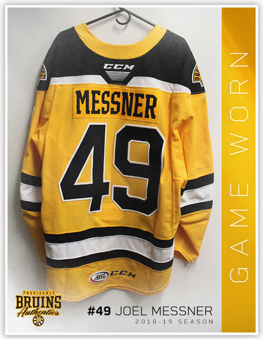 #49 Joel Messner 2018-19 Game Worn Gold Jersey