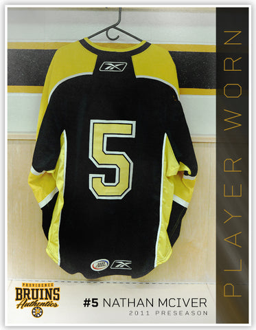 #5 2011-12 Preseason Game Issued Black Jersey