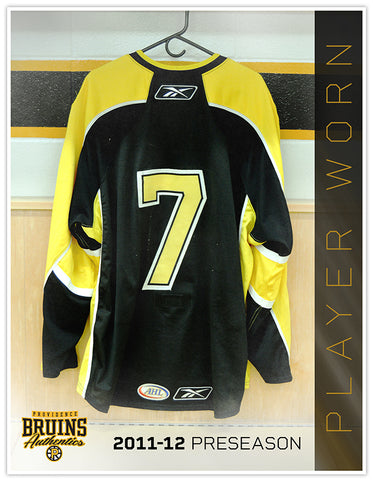 #7 2011-12 Preseason Game Worn Black Jersey