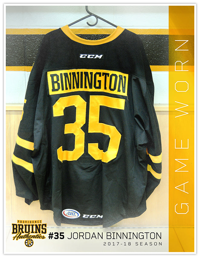 #35 Jordan Binnington 2017-18 Game Worn Black Jersey