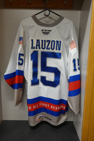 #15 Jeremy Lauzon 2019 First Responders Weekend Jersey