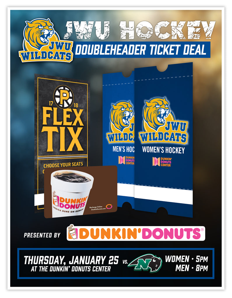 JWU Hockey Doubleheader Ticket Deal