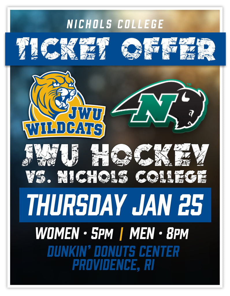JWU vs. Nichols College Hockey Doubleheader Ticket Deal