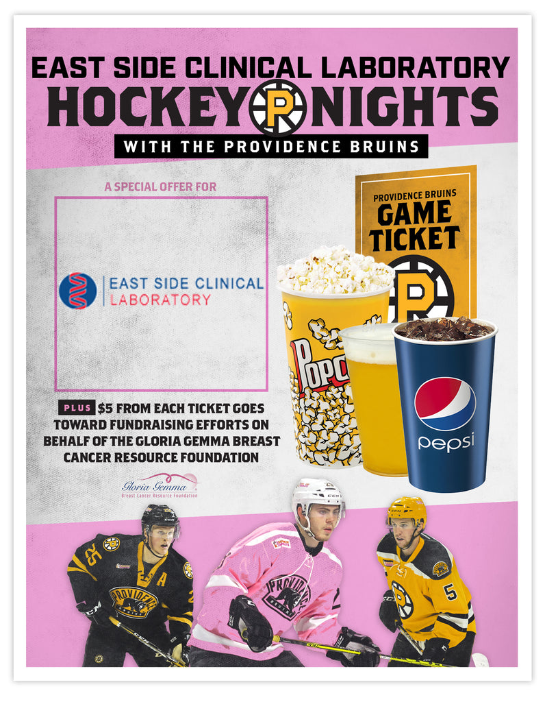 P-Bruins Special Offer: East Side Clinical Laboratory