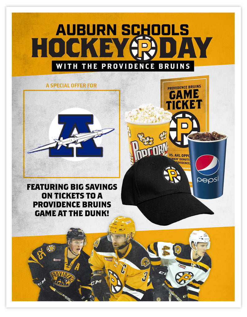 P-Bruins Special Offer: Auburn Schools Day - Sun. Jan. 21