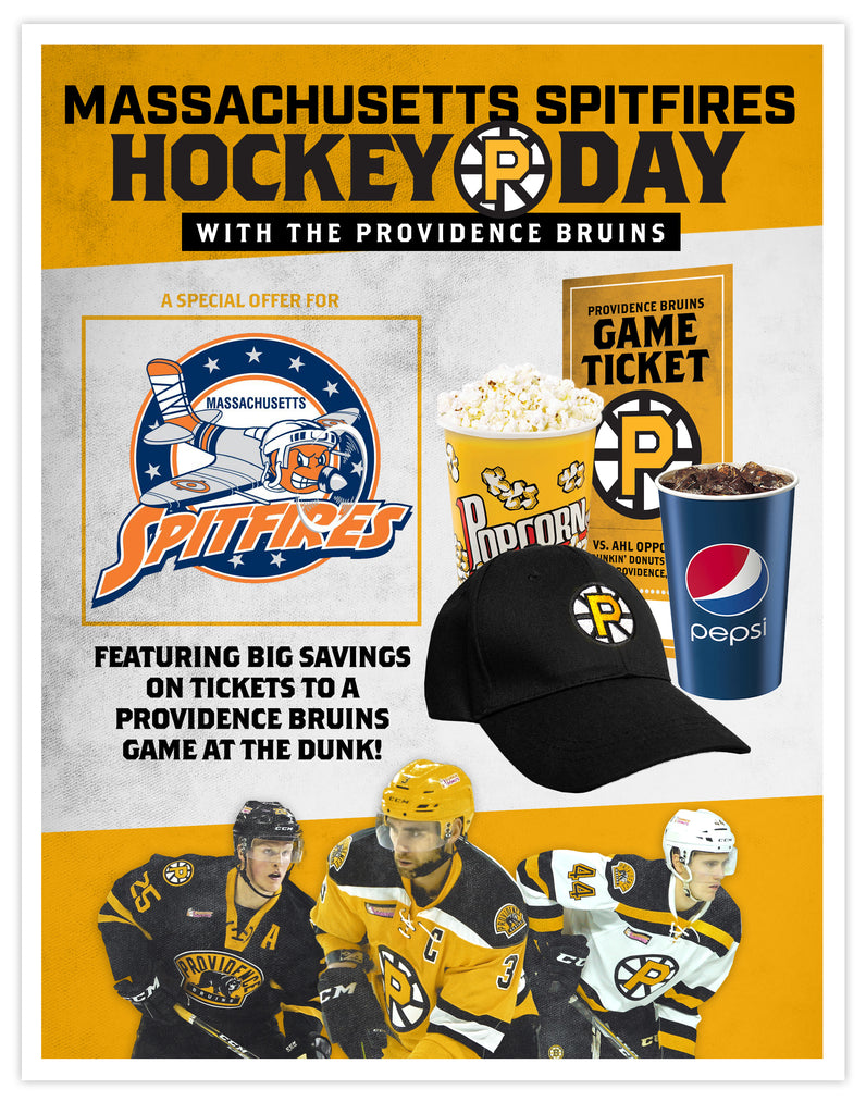 P-Bruins Special Offer: Massachusetts Spitfires - Sun. Mar. 4