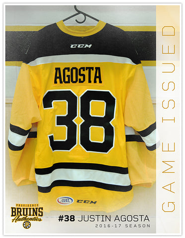 #38 Justin Agosta 2016 Preseason Player Issued Gold Jersey