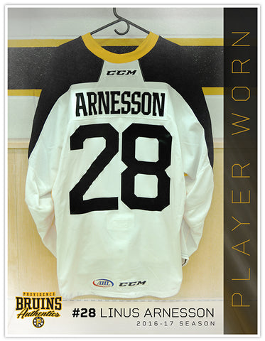 #28 Linus Arnesson 2016-17 Warmup Worn Jersey