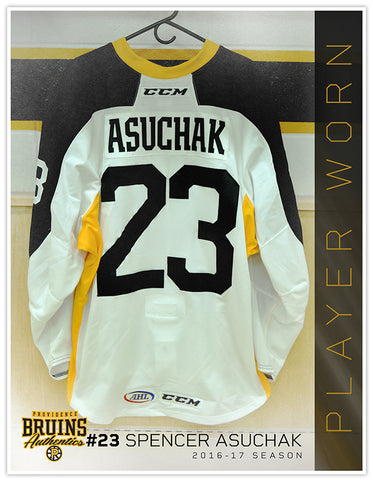 #23 Spencer Asuchak 2016-17 Warmup Worn Jersey