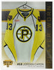 #13 Jordan Caron 2012-13 Preseason Game Issued White Jersey