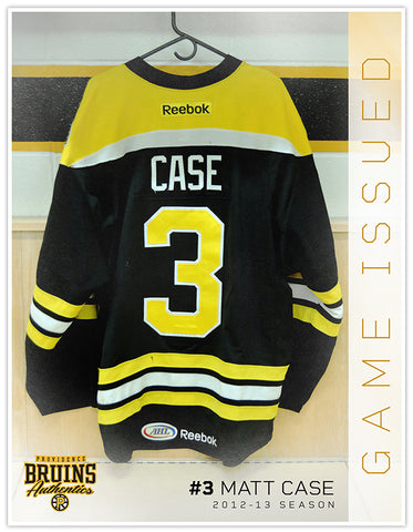 #3 Matt Case 2012-13 Game Issued Black Jersey