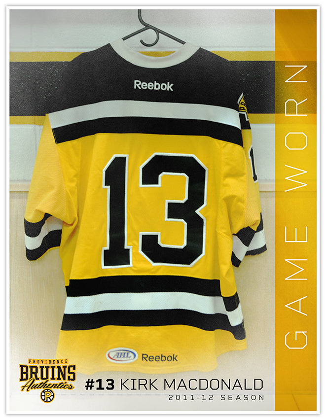 #13 Sleeveless 2011-12 Game Used Gold Jersey