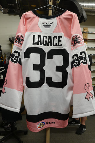 #33 Maxime Lagace 2019 Pink in the Rink Jersey