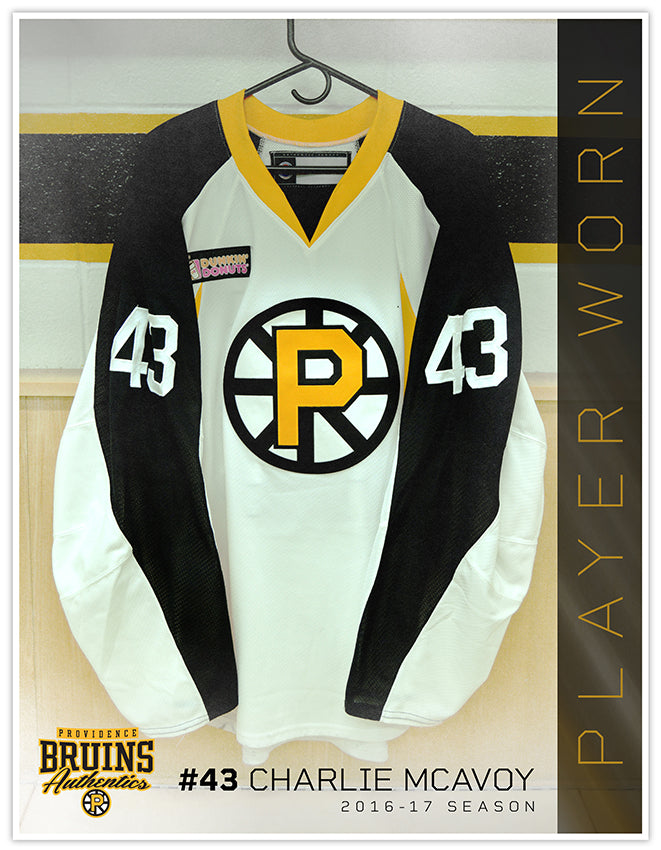 0cfe1a401 43 Charlie McAvoy 2016-17 Warmup Worn Jersey – Providence Bruins ...