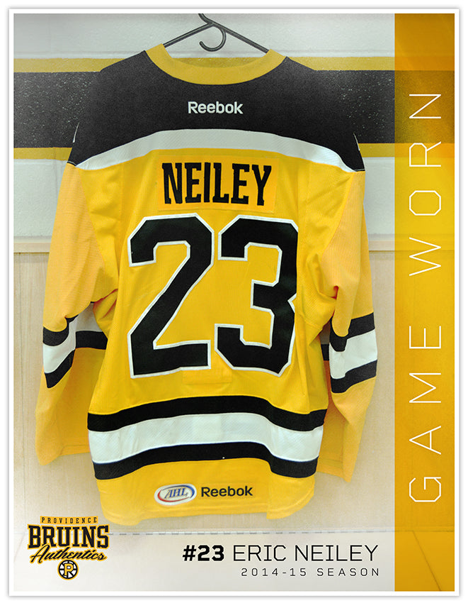 #23 Eric Neiley 2014-15 Game Worn Gold Jersey