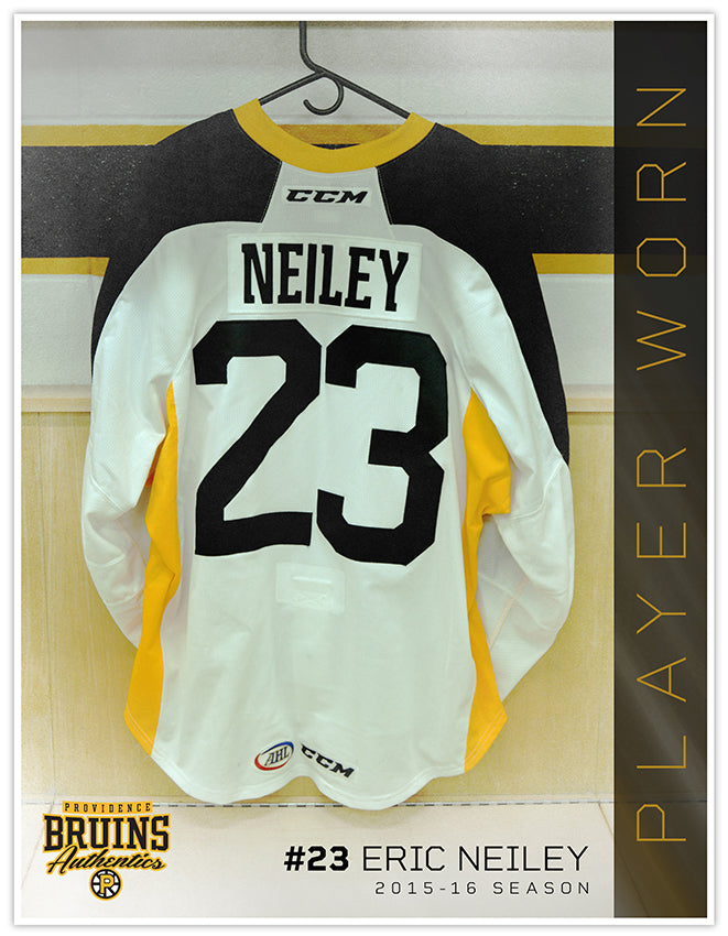 #23 Eric Neiley 2015-16 Warmup Worn Jersey