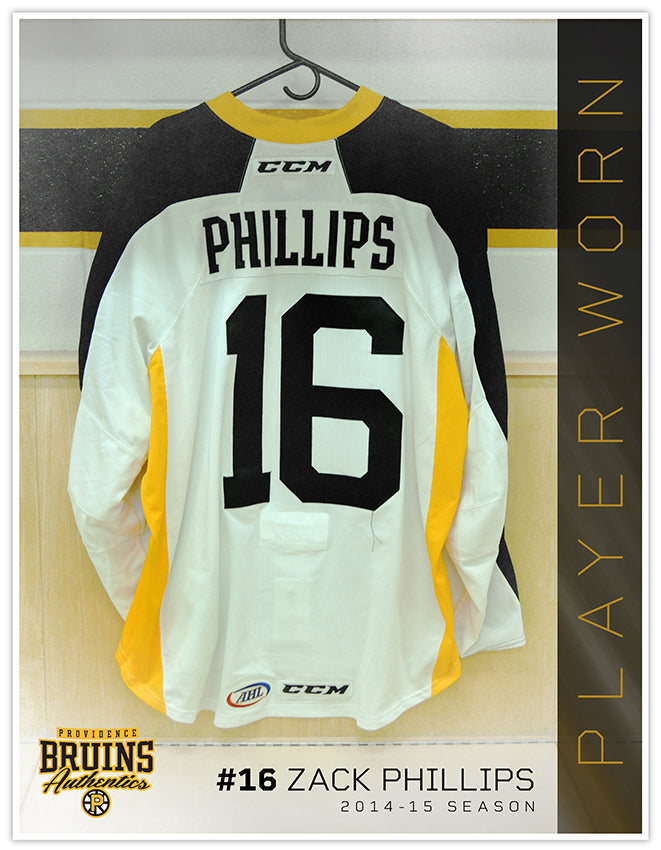 #16 Zack Phillips 2014-15 Warmup Worn Jersey