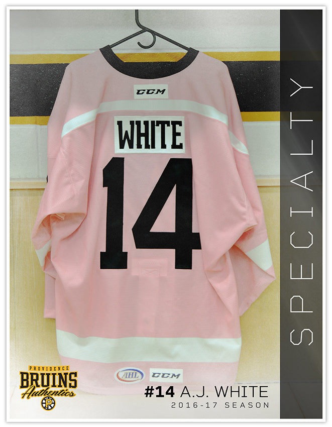 #14 AJ White 2016-17 Game Issued Pink in the Rink Jersey