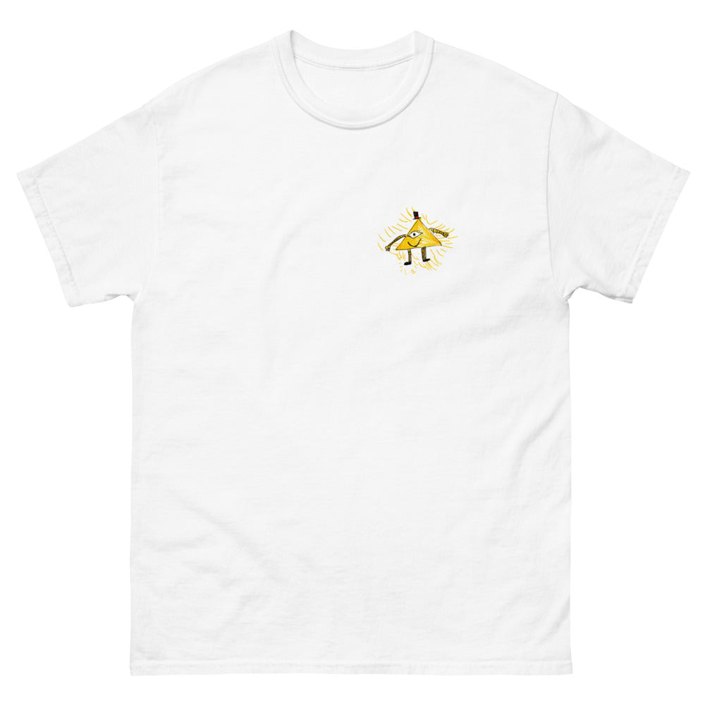 pyramid - printed heavyweight mens tshirt