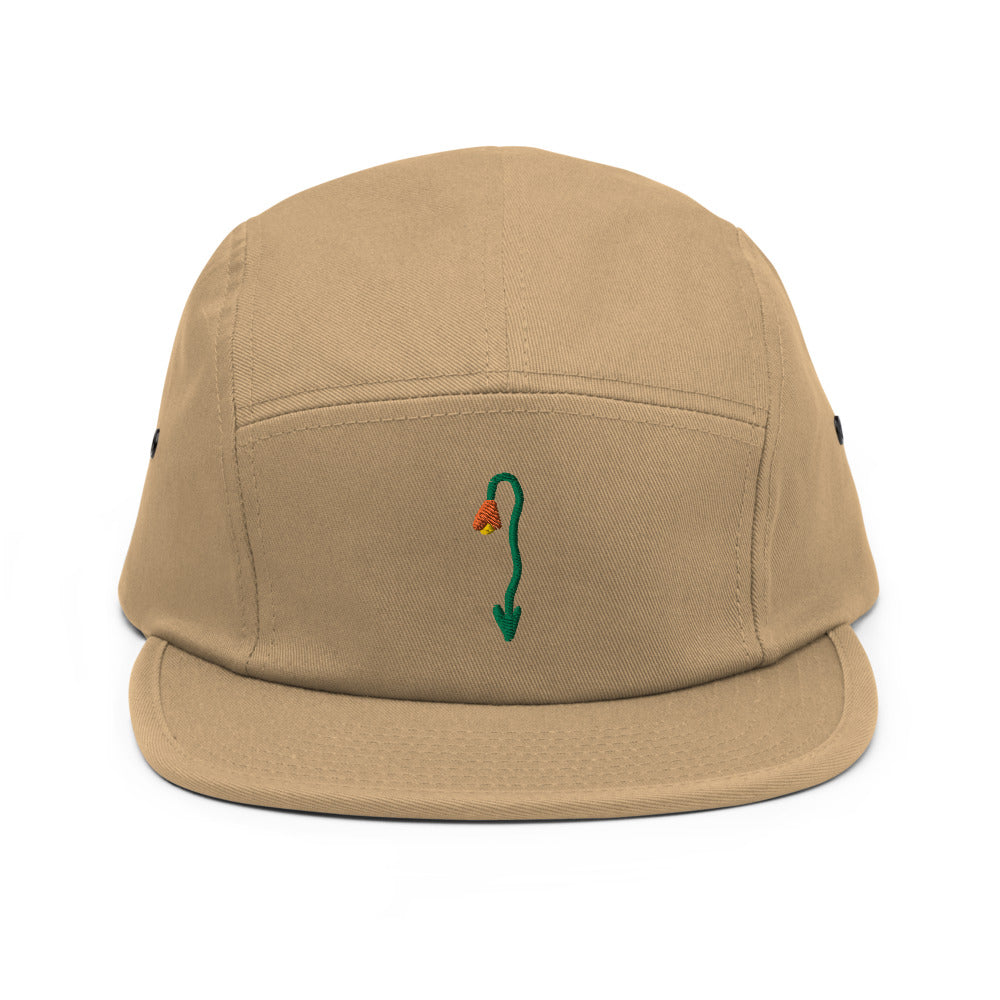 tulip - embroidered five panel hat