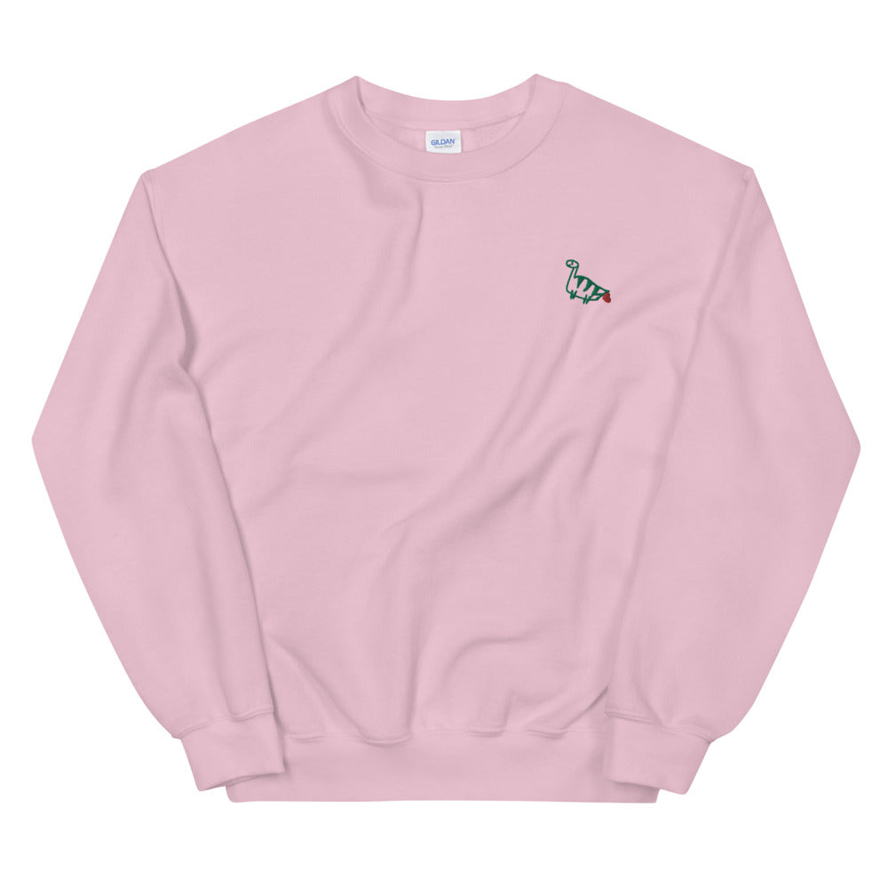farting dinosaur - embroidered unisex sweater