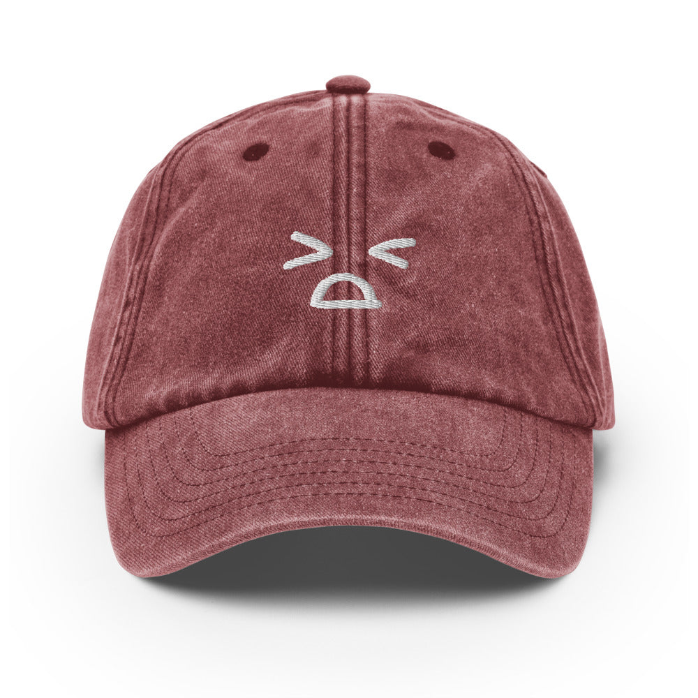 face 2 - embroidered vintage hat