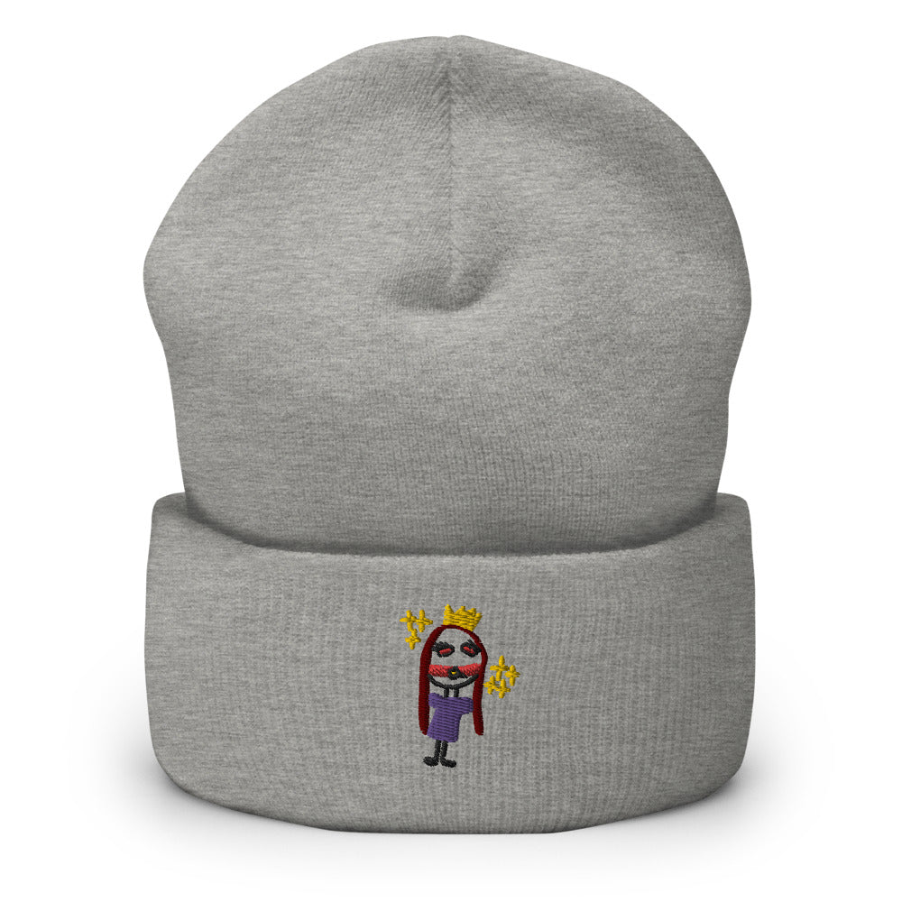 princess - embroidered beanie