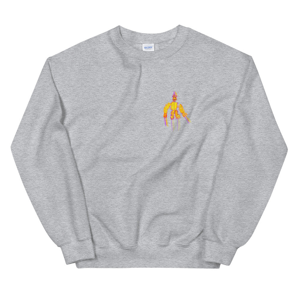 fire man - printed unisex sweatshirt