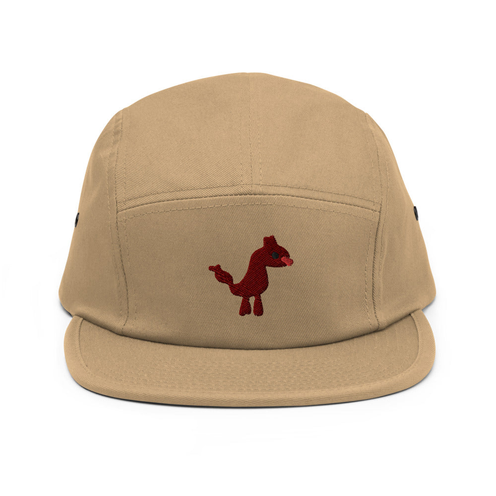 dog - embroidered five panel hat