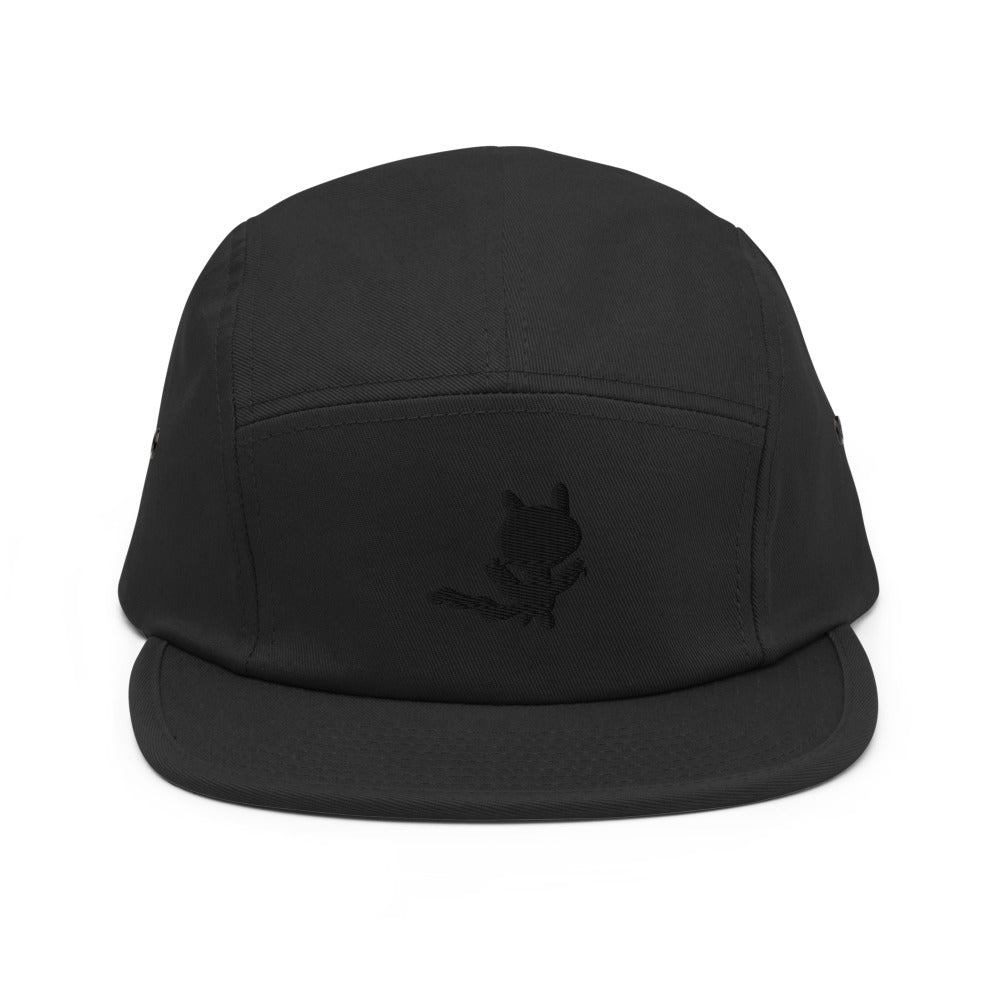 cat shadow - embroidered five panel hat