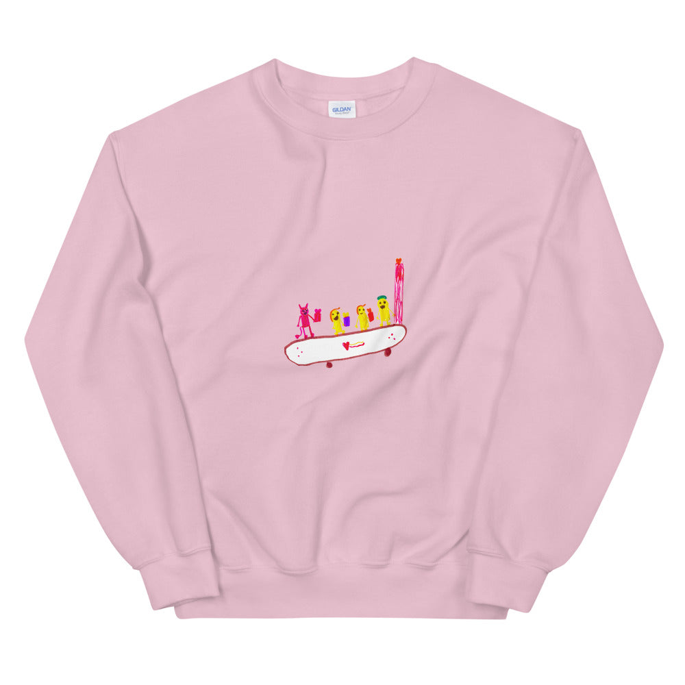 skating - printed unisex sweatshirt