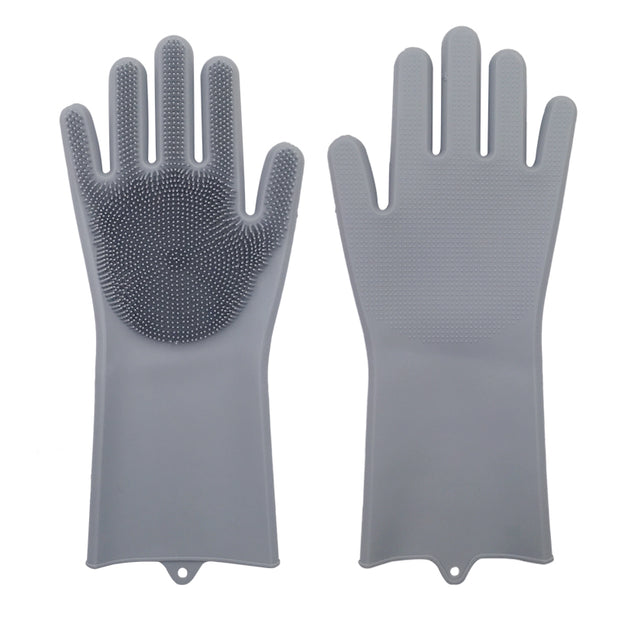Dish Washing Gloves  With Cleaning Brush