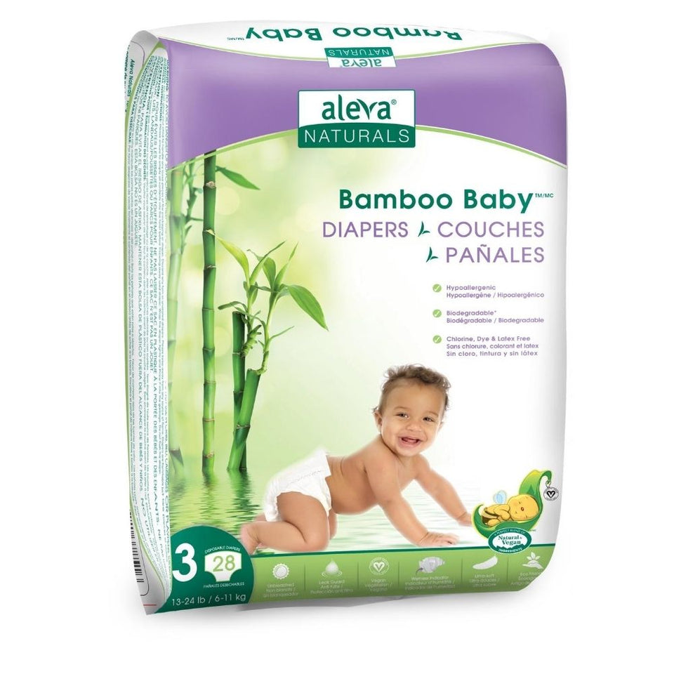 Bamboo Baby Diapers - Size 3