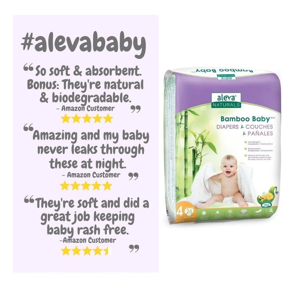Bamboo Baby Diapers - Size 4