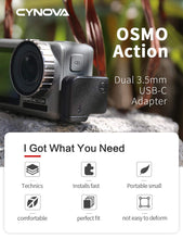 Load image into Gallery viewer, CYNOVA Osmo Action Dual 3.5mm Mic Adapter