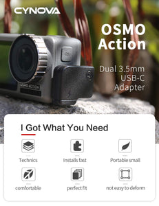 CYNOVA Osmo Action Dual 3.5mm Mic Adapter