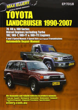 Load image into Gallery viewer, Automobile Repair Manual: Toyota Landcruiser 1990-2007 Diesel Engines Including Turbo