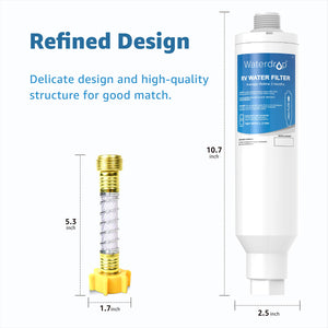 Inline Water Filter, NSF Certified, Reduces Lead, Fluoride, Cl, Bad Taste